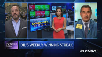 Oil's weekly winning streak