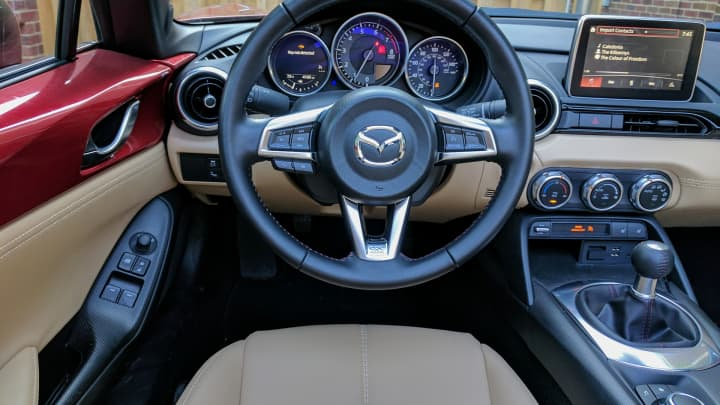Interior of the MX-5 Miata RF