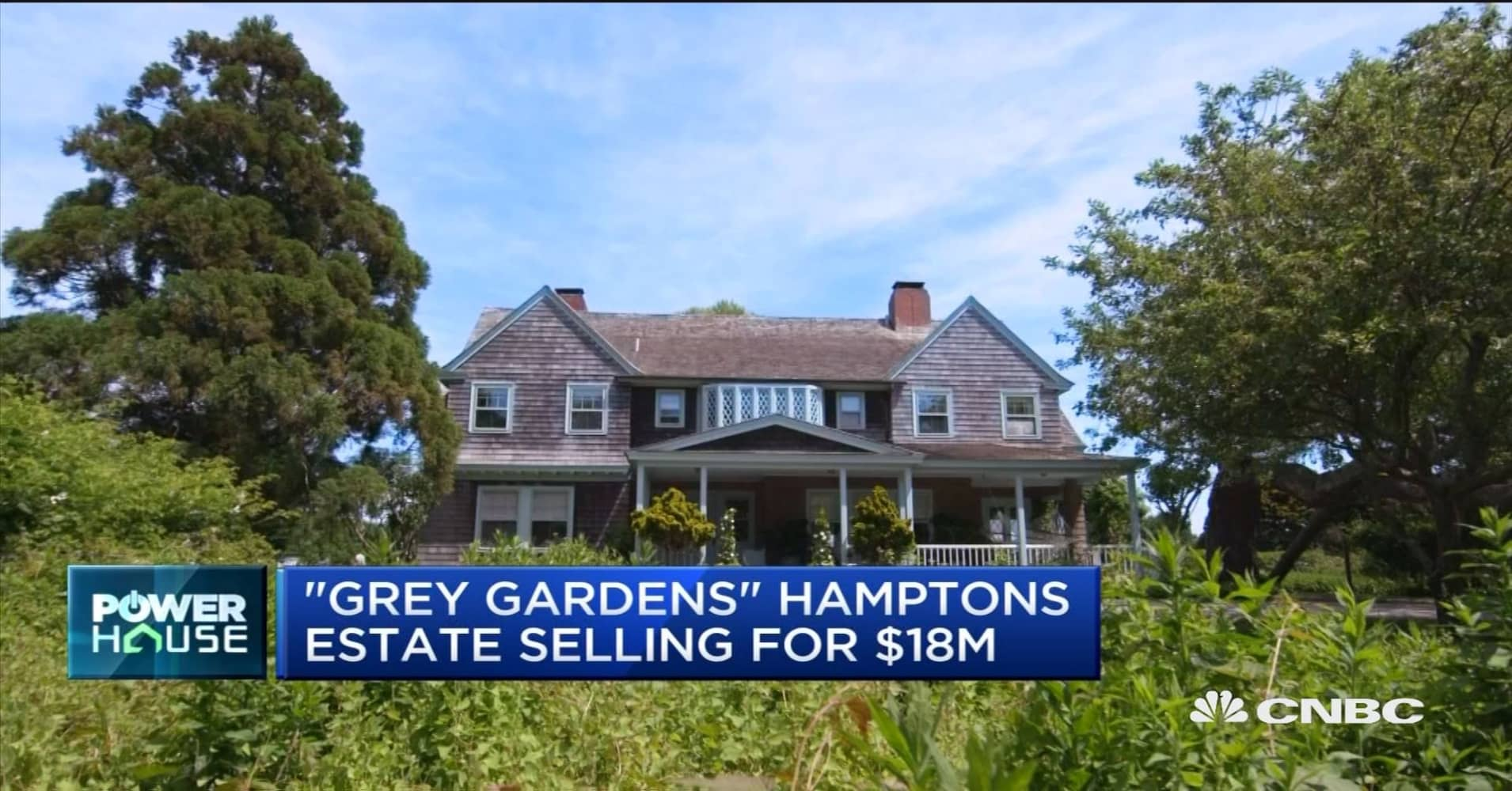'Grey Gardens' Hamptons estate selling for $18 million