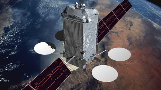 Boeing Intelsat 702MP satellite.