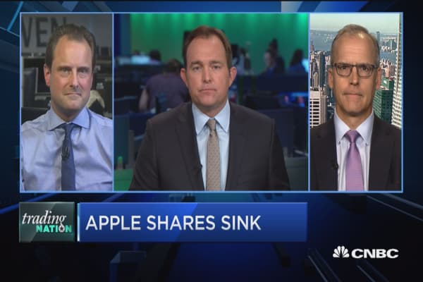 Trading Nation: Apple shares sink