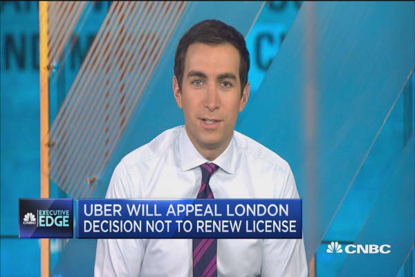 Uber to appeal London license ban