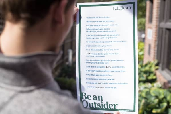 "L.L Bean's ""Be an outsider"" ad can only be viewed in sunlight"