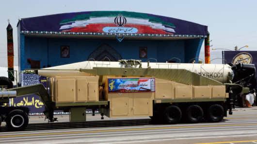 The new Iranian long range missile Khorramshahr