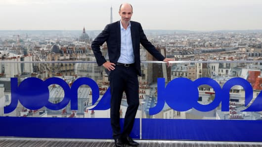 CEO Jean-Michel Mathieu poses during the launching of Joon, the new lower-cost airline subsidiary of Air France in Paris, France, September 25, 2017.