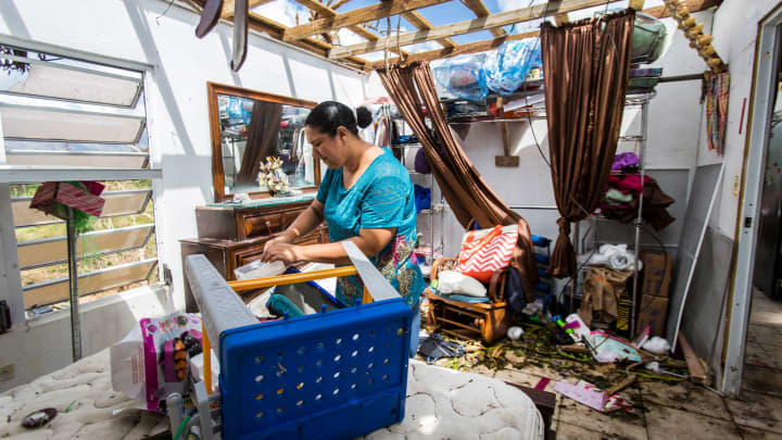 Marry Ann Aldea loss everything at her house after the winds of hurricane Maria ripped away her roof. The mountain town of Juncos is one of the most affected after the pass of Hurricane María.
