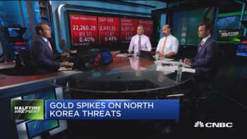 Gold spikes on North Korea threats