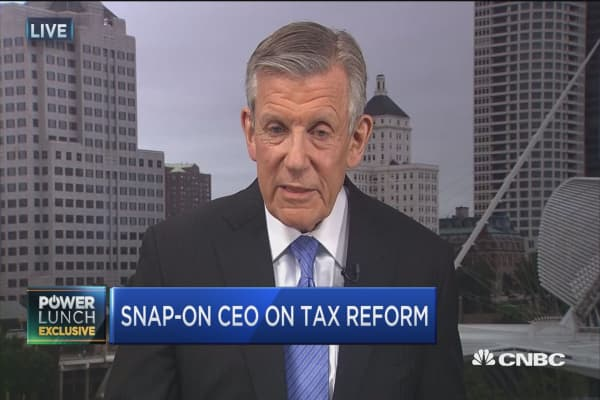 Manufacturing has had disadvantage through current tax code: Snap-on CEO Nicholas Pinchuk