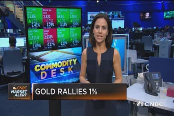 Gold rallies one percent