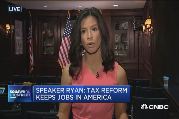 Speaker Ryan: Singularly focused on tax reform