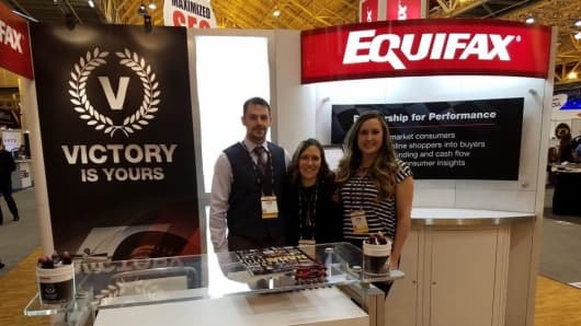 Equifax employees at a conference in 2017.