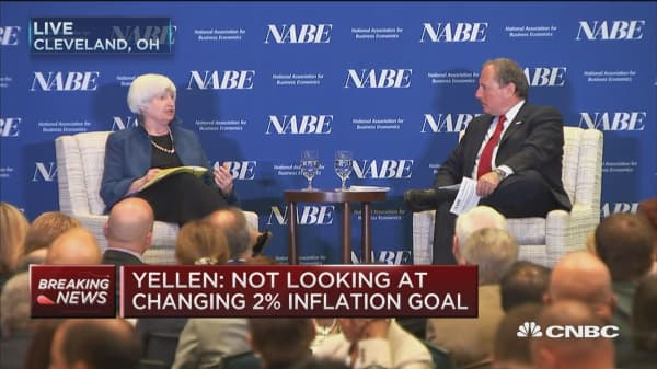 Fed Chair Yellen: We need to consider cost of higher level of inflation