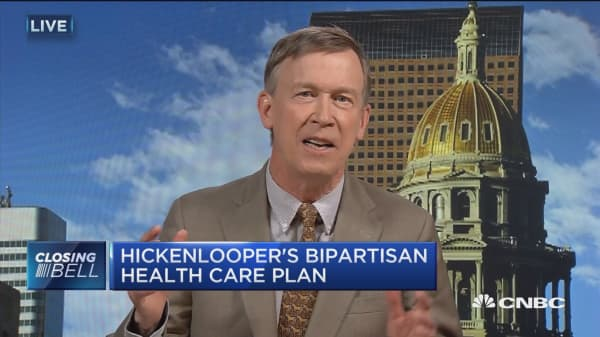 Real focus is how do we stabilize health care markets: Gov. Hickenlooper