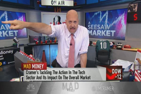 Cramer sheds light on why the sell-off in top stocks isn't based on fundamentals