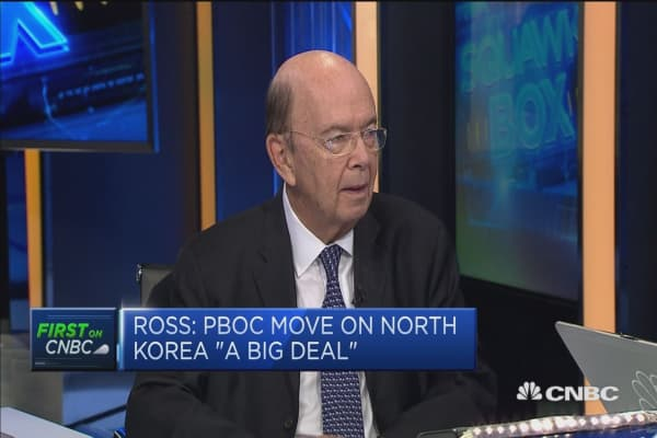 Wilbur Ross: China 'quite serious' about living up to N.Korea commitments
