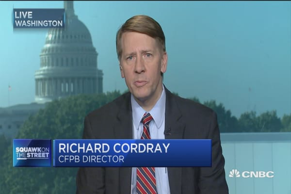 CFPB's Richard Cordray: Credit companies have to accept 'the old days' of no supervision is over