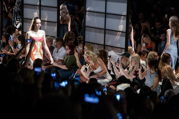 Fashion-tech startups have made the BCBGMAXAZRIA and Herve Leger catwalks shoppable with an Instagram photo-shopping tool from RewardStyle, and edgy media outlet Refinery29 shows consumers where to buy the clothes worn by the stars.
