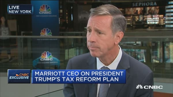 CEO of Marriott: We've got to bring corporate tax rates down