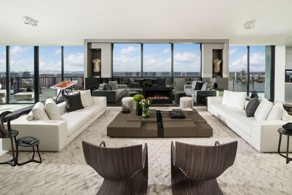 Each apartment has floor to ceiling windows.