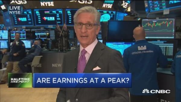 Are earnings at a peak?