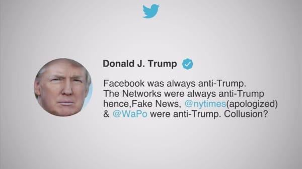 Trump claims Facebook is 'anti-Trump'