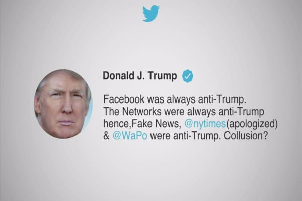 Trump claims Facebook is 'anti-Trump'