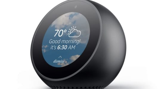 The Echo Spot is like a smaller Echo Show