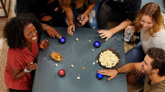 Amazon Echo Buttons used for family game night