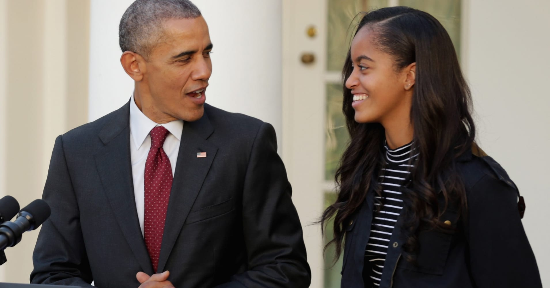 President Barack Obama with his daughter Malia.