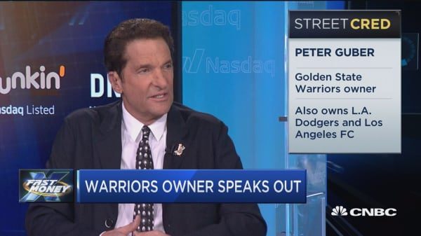 Golden State Warriors owner Peter Guber speaks out on Trump and the NFL protests