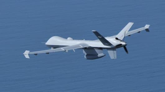 General Atomics' Guardian drone, which is the maritime version of the company's Predator B or MQ-9 Reaper unmanned aerial vehicle.