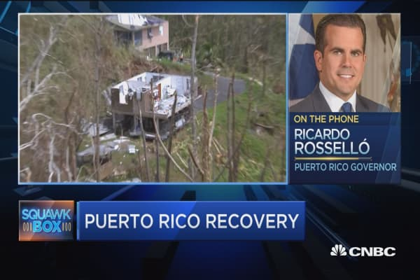Puerto Rico Governor: Food and water most urgent need