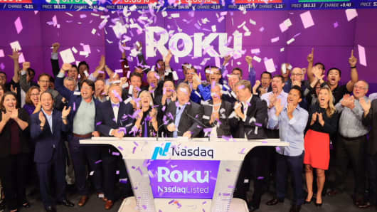 The Roku IPO at the Nasdaq, September 28, 2017.