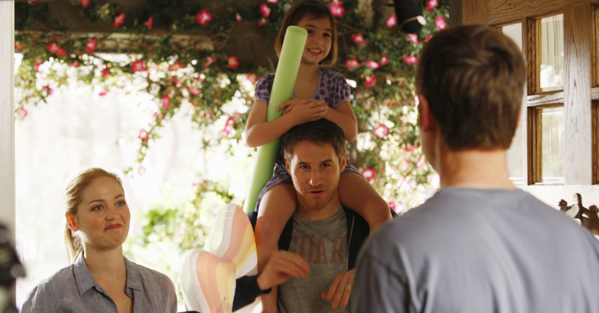 "Joel Graham, Julia Braverman-Graham and their daughter on NBC's ""Parenthood"""
