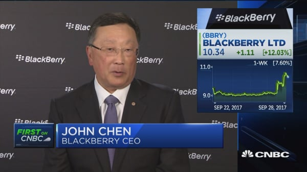 Blackberry CEO John Chen: Comfortable where we are as a company