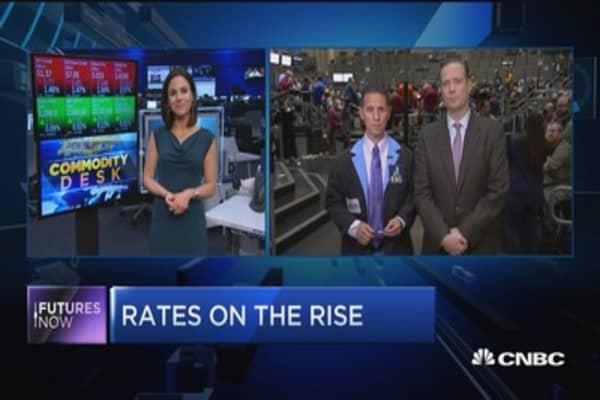 10-year treasury yield rises