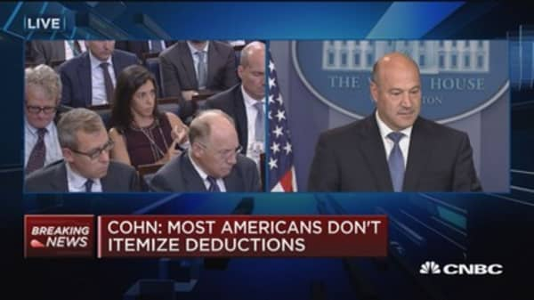 NEC's Gary Cohn: We don't want wealthy to move from 35% rate to 25% rate