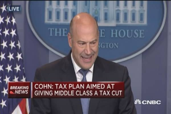 Gary Cohn: I guarantee you could find someone, maybe one person, whose taxes won't go down