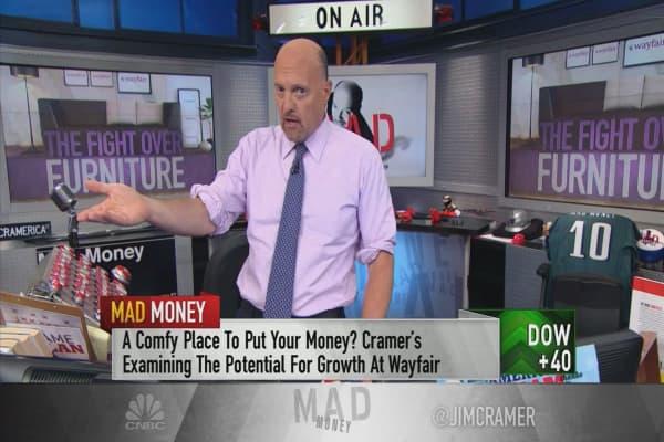 Cramer reveals his position on the battleground stock of Wayfair