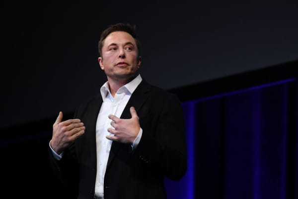 SpaceX CEO Elon Musk at the International Astronautical Congress on September 29, 2017 in Adelaide, Australia