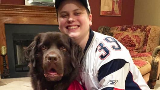 Justin Pritikin and his dog