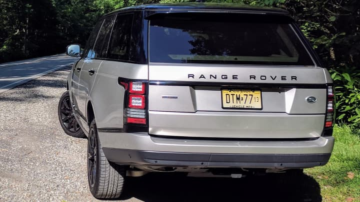 The Range Rover Supercharged from behind