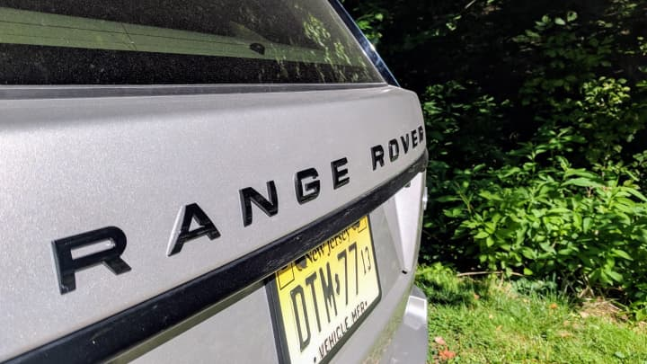 The Range Rover logo on the back - a status symbol, for sure