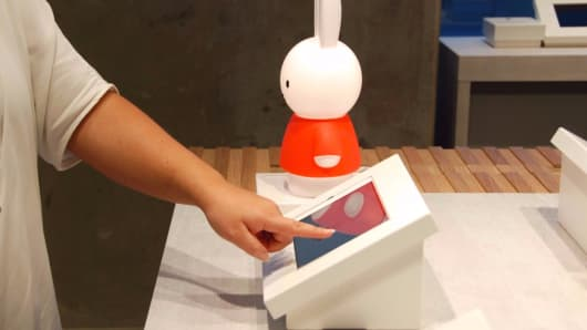 Miffy Lamp at b8ta store in San Francisco