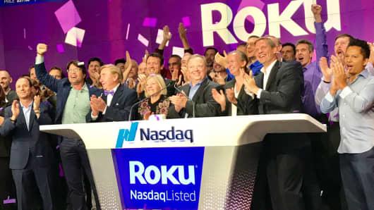 The Roku IPO at the Nasdaq, September 28, 2017.