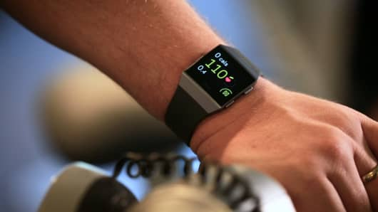 Riding a bike with the Fitbit Ionic