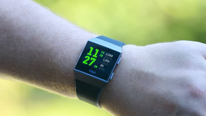The Fitbit Ionic's display is great indoors and out