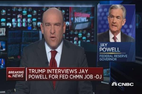 President Trump interviews Jay Powell for Fed Chairman job: DJ