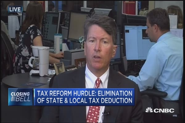 Tax reform hurdle: Elimination of state & local tax deduction