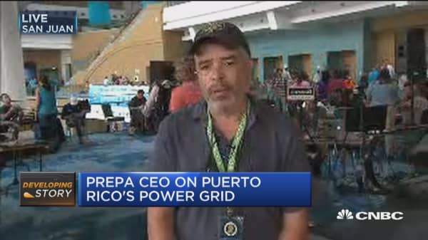 Workers have worked through Irma into Maria: PREPA CEO on power recovery